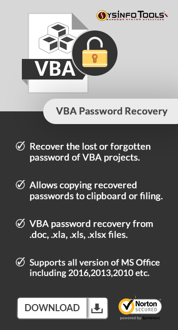 VBA Password Recovery