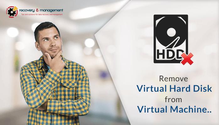 remove hard disk from virtual machine vmware