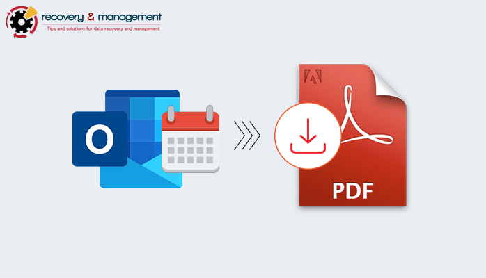 Save Outlook Calendar to PDF Format