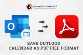 How to Save Outlook Calendar as PDF file Format