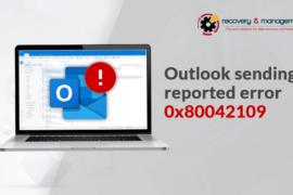Outlook 2007 error 0x80042109