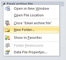 new folder location added