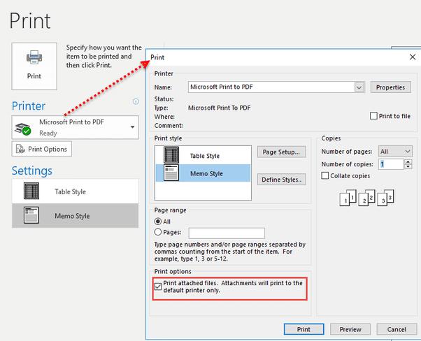 enable print option