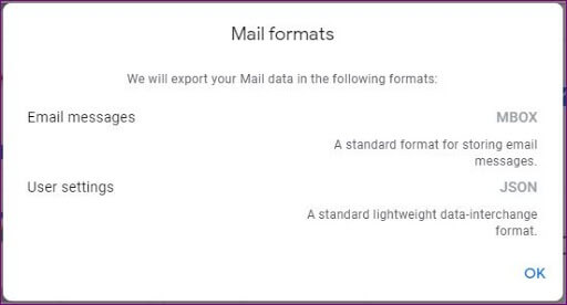 select mail format