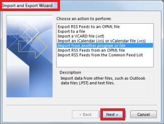 click import