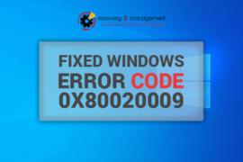 Windows Registry Error Code 0x80020009