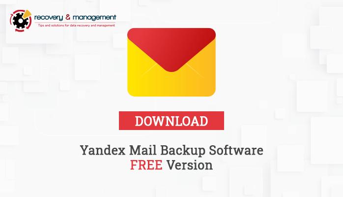 Yandex mail backup software