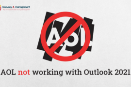 AOL not working with Outlook 2021